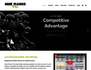 gameplannerpro.com screenshot