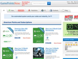 gamepointsnow.com screenshot