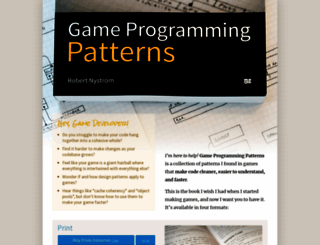 gameprogrammingpatterns.com screenshot