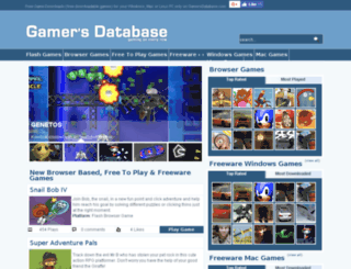 gamersdatabase.com screenshot