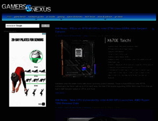 gamersnexus.net screenshot