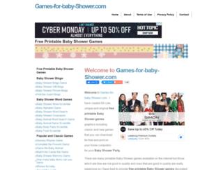 games-for-baby-shower.com screenshot