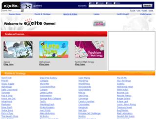 games.excite.com screenshot