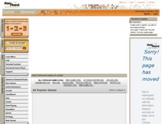 games.myfairpoint.net screenshot