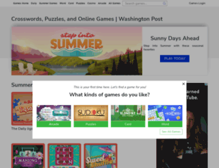 games.washingtonpost.com screenshot