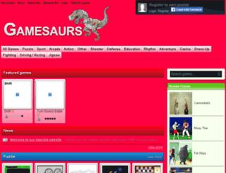 gamesaurs.com screenshot