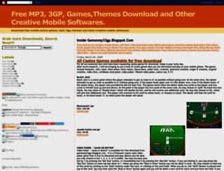 gamesmp33gp.blogspot.com screenshot