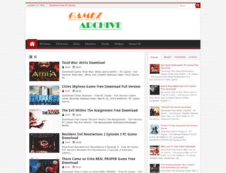 gamezarchive.blogspot.com screenshot