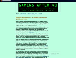 gamingafter40.blogspot.com screenshot