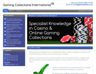 gamingcollectionsinternational.co.uk screenshot