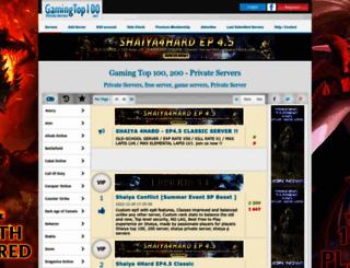 gamingtop100.net screenshot