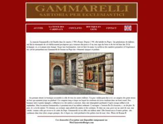 gammarelli.fr screenshot