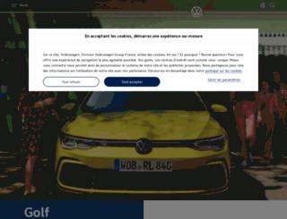 gamme-golf.volkswagen.fr screenshot