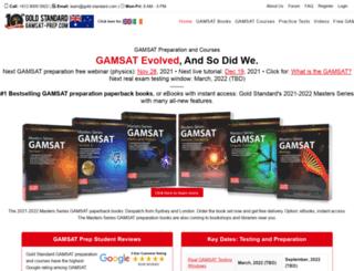 gamsat-prep.com screenshot