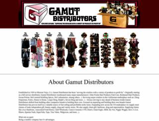 gamutdistributors.com screenshot