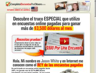 ganadinerorespondiendoencuestas.com screenshot