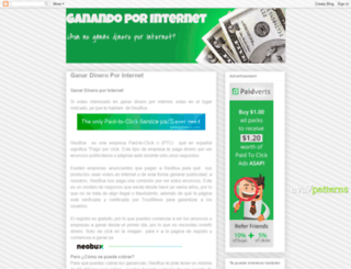 ganandoyganandoporinternet.blogspot.mx screenshot