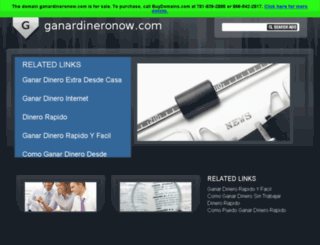 ganardineronow.com screenshot