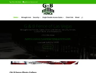 gandbfencelasvegas.com screenshot