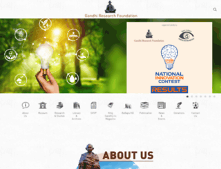 gandhifoundation.net screenshot