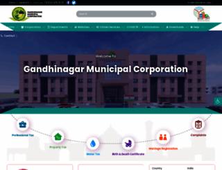 gandhinagarmunicipal.com screenshot