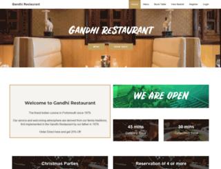 gandhirestaurant.co.uk screenshot