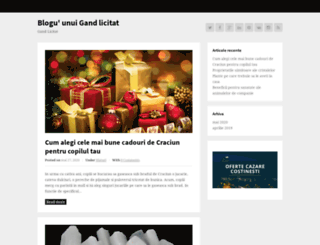 gandlicitat.ro screenshot