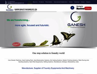 ganeshfoundryequipment.com screenshot