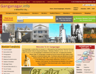 ganganagar.info screenshot