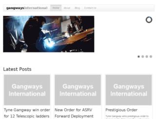 gangwaysinternational.com screenshot