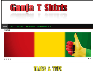ganjatshirts.com screenshot