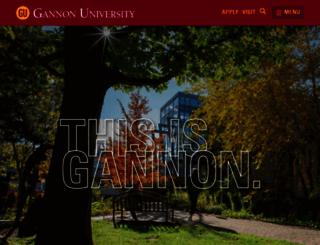 gannon.edu screenshot