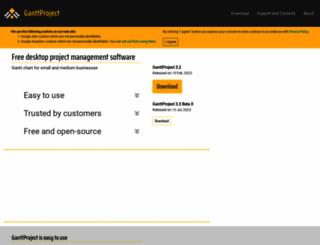 ganttproject.biz screenshot