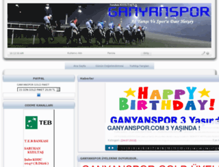 ganyanspor.com screenshot