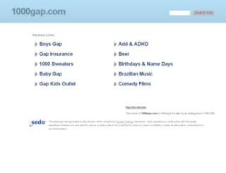 gap.1000gap.com screenshot