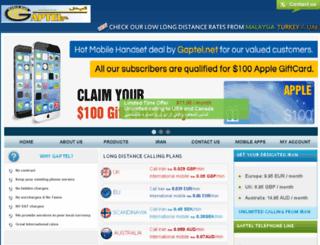 gaptel.net screenshot