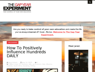 gapyearexperiment.com screenshot