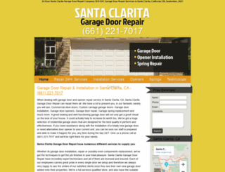 garage-doors-santa-clarita.com screenshot