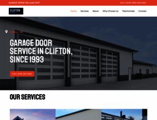 garagedoorclifton.com screenshot