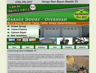 garagedoorrepair-humble.com screenshot