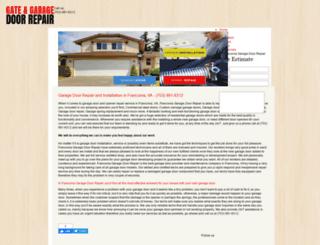 garagedoorrepairfranconia.com screenshot