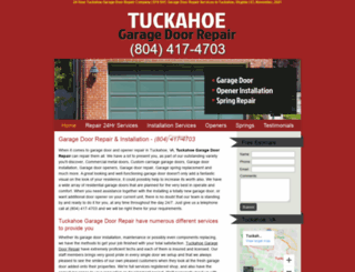 garagedoorrepairtuckahoeva.com screenshot