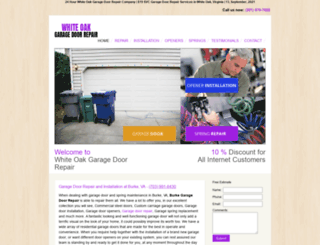 garagedoorrepairwhiteoak.com screenshot