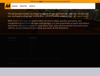 garageguide.theaa.com screenshot