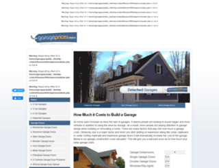 garageprices.com screenshot