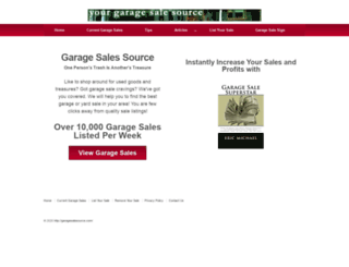 garagesalesource.com screenshot
