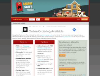 garagesalestracker.com screenshot