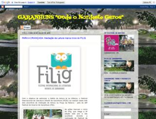 garanhunsondeonordestegaroa.blogspot.com.br screenshot