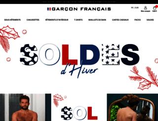 garcon-francais.fr screenshot