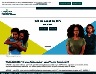 gardasil.com screenshot